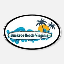 Buckroe Beach SC - Surf Design Sticker (Oval)