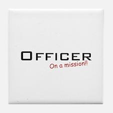 Officer/Mission Tile Coaster