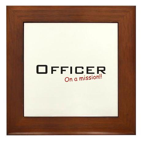 Officer/Mission Framed Tile