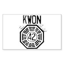 Kwon - 42 - LOST Bumper Stickers