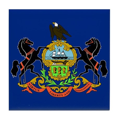 PA Flag Tile Coaster