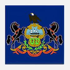 PA Flag Tile Coaster