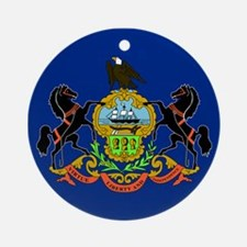 PA Flag Ornament (Round)