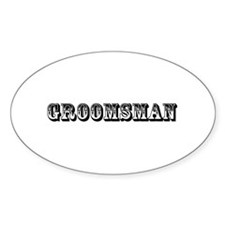 Groomsman - Old West Decal