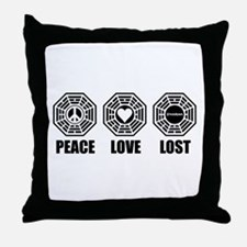 PEACE LOVE LOST Throw Pillow