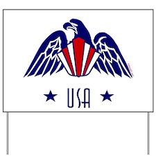 USA Gold Eagle-Art Deco Yard Sign
