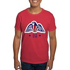USA Gold Eagle-Art Deco T-Shirt
