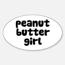Peanut Butter Girl Oval Decal