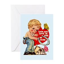 Retro Valentine's Day Greeting Card