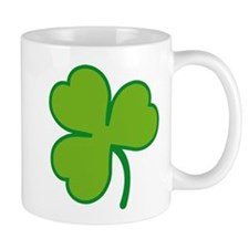 Pretty Green Shamrock Small Mug