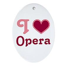 Opera Heart Ornament (Oval)