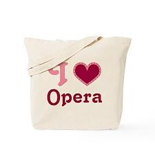 Opera Heart Tote Bag