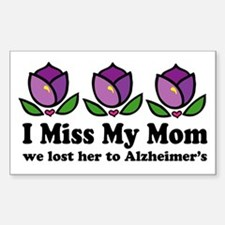 Lost Mom To Alzheimers Sticker (Rectangle)
