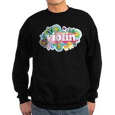 Colorful Retro Violin Jumper Sweater