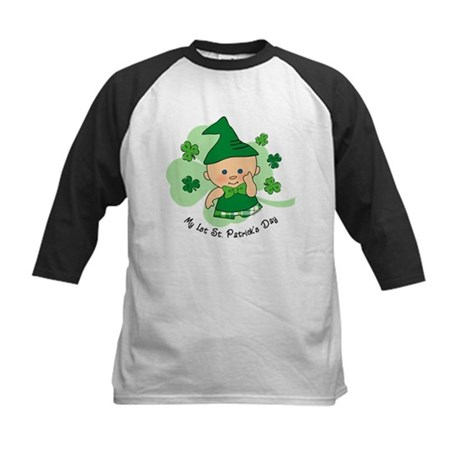Plaid Boy 1st St. Pat's Kids Baseball Jersey