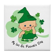 Plaid Boy 1st St. Pat's Tile Coaster