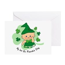 Plaid Boy 1st St. Pat's Greeting Card