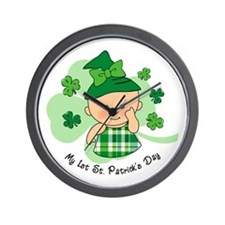 Plaid Girl 1st St. Pat's Wall Clock