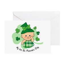 Plaid Girl 1st St. Pat's Greeting Card