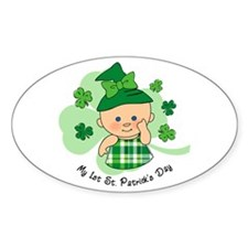 Plaid Girl 1st St. Pat's Decal