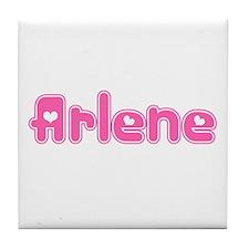 """Arlene"" Tile Coaster"