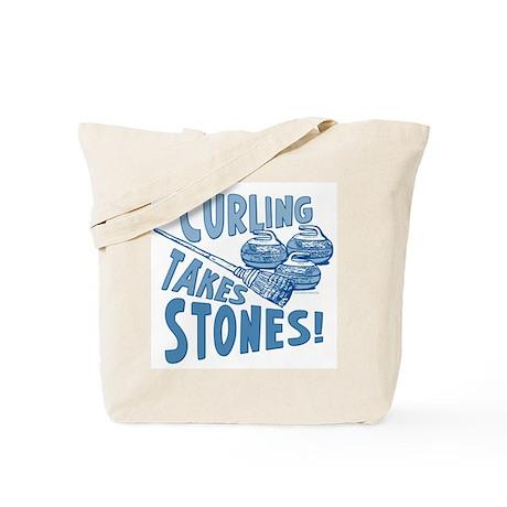 Curling Takes Stones Tote Bag