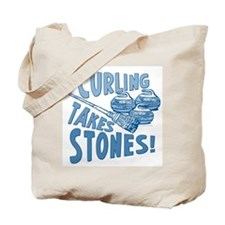 Curling Takes Stones Tote Bag