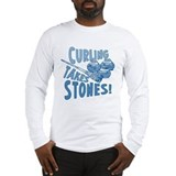 Curling takes stone Long Sleeve T-shirts