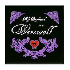 Biyfriend Werewolf Heart Tile Coaster