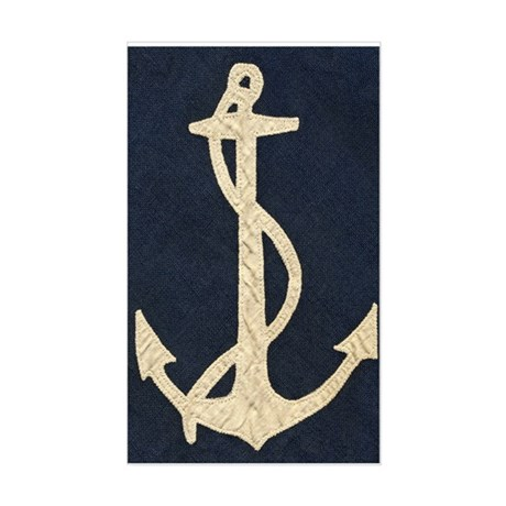 Old Flag Anchor Sticker (Rectangle)