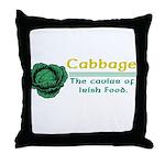 Funny Cabbage Irish Throw Pillow