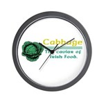 Funny Cabbage Irish Wall Clock