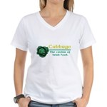 Funny Cabbage Irish Women's V-Neck T-Shirt