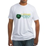 Funny Cabbage Irish Fitted T-Shirt