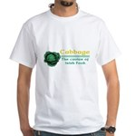 Funny Cabbage Irish White T-Shirt