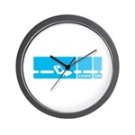 Mod Blue Wall Clock