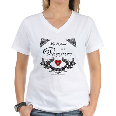 Boyfriend Vampire Heart Women's V-Neck T-Shirt