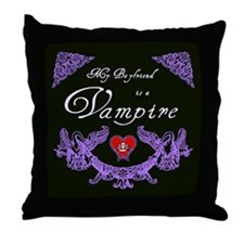 Boyfriend Vampire Heart Throw Pillow