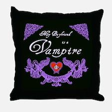Boyfriend Vampire Heart Throw Pillow