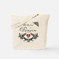 Boyfriend Vampire Heart Tote Bag