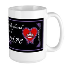 Boyfriend Vampire Heart Ceramic Mugs