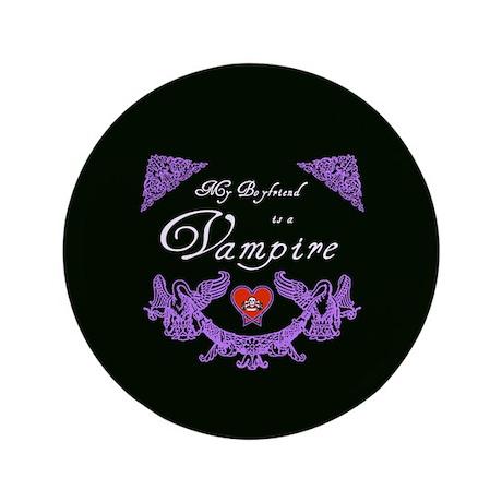 """Boyfriend Vampire Heart 3.5"""" Button (100 pack)"""