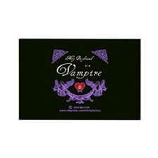 Boyfriend Vampire Heart Rectangle Magnet