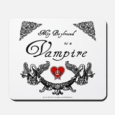 Boyfriend Vampire Heart Mousepad