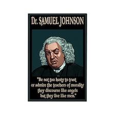 Dr. Samuel Johnson Rectangle Magnet