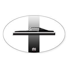 Mustang Plain Sticker (Oval)