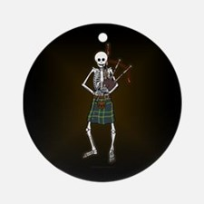 Bagpiper Skeleton Ornament (Round)