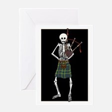 Bagpiper Skeleton Greeting Card
