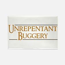 Unrepentant Buggery Rectangle Magnet