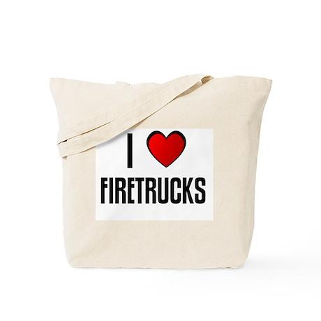 I LOVE FIRETRUCKS Tote Bag